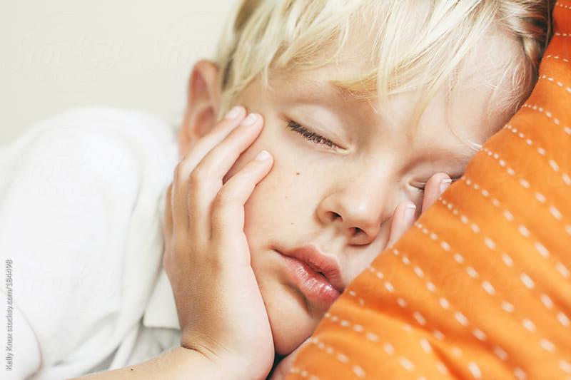 sweet, little boy sleeping by Kelly Knox for Stocksy United