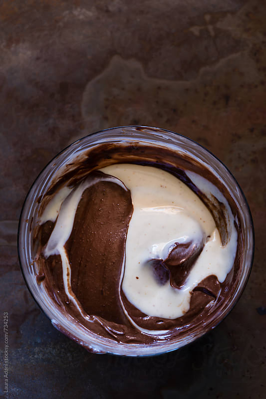 making mousse with ricotta and chocolate by Laura Adani for Stocksy United