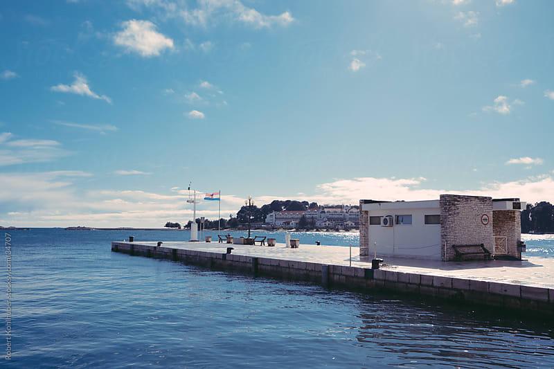 Pier in croatia by Robert Kohlhuber for Stocksy United