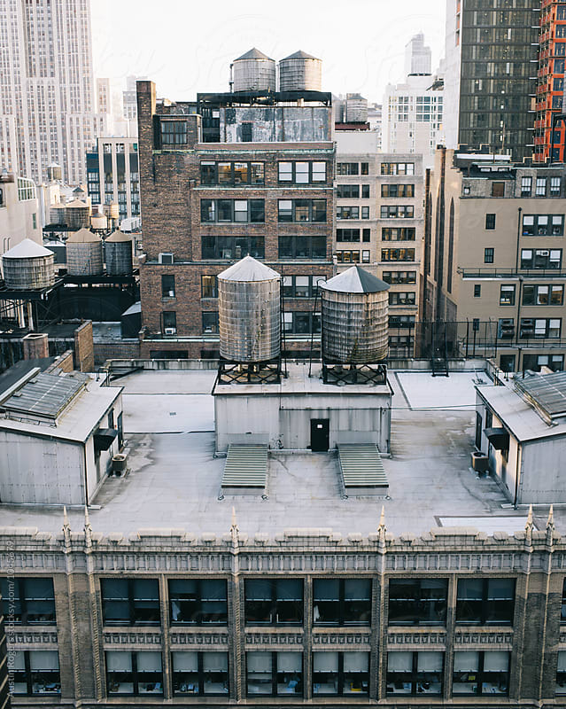 NYC Rooftop by Austin Rogers for Stocksy United