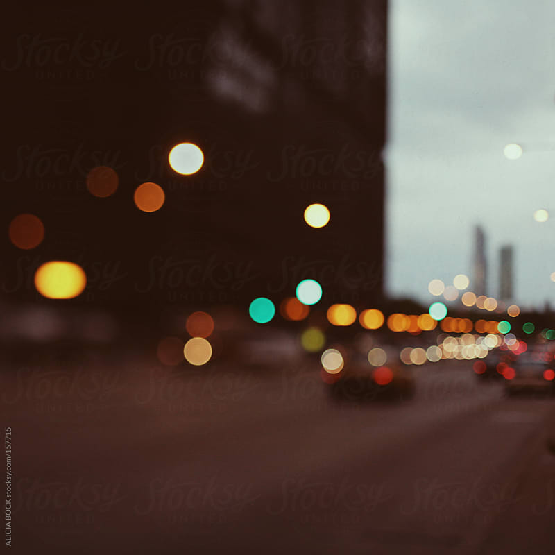 Tail Lights In Chicago by ALICIA BOCK for Stocksy United