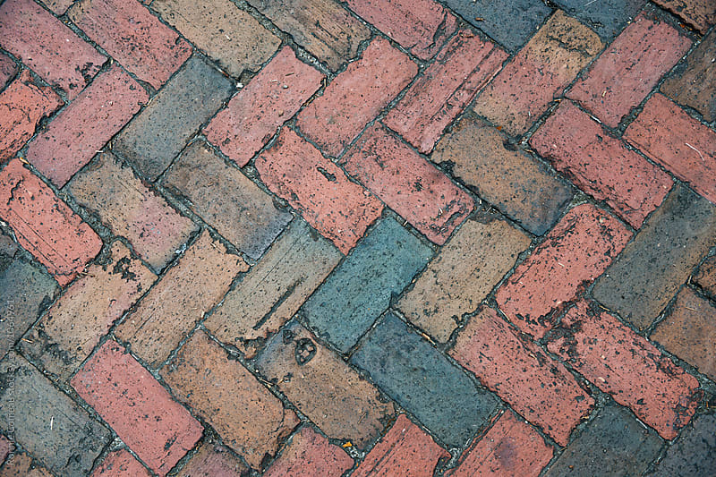 Angled Bricks Background by Ronnie Comeau for Stocksy United