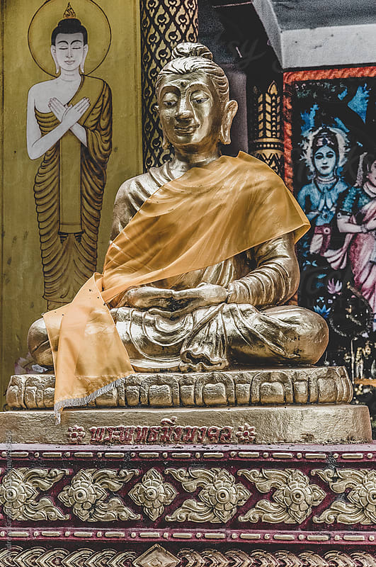 buddha statue by Andreas Gradin for Stocksy United
