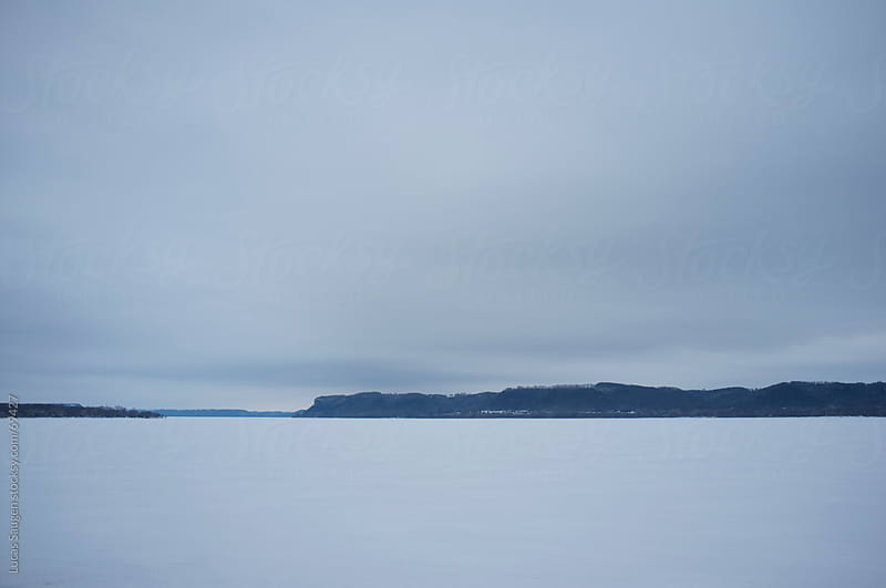 Frozen Lake Pepin by Lucas Saugen for Stocksy United