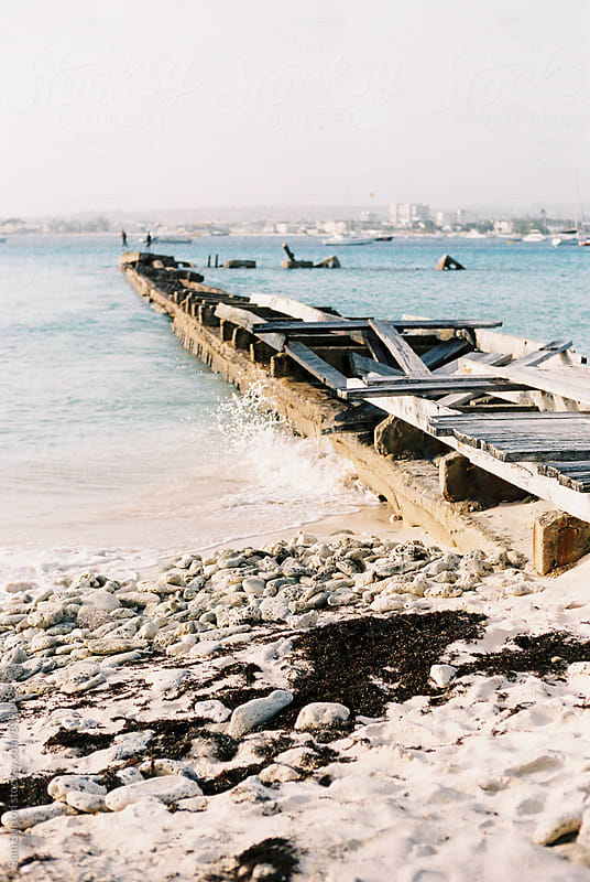 Old wooden pier by Sam Burton for Stocksy United