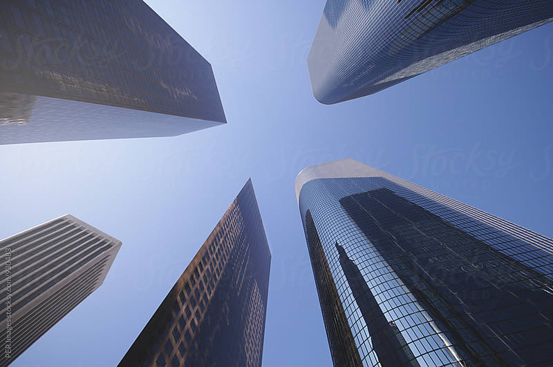 Highrises in downtown Los Angeles by Per Swantesson for Stocksy United
