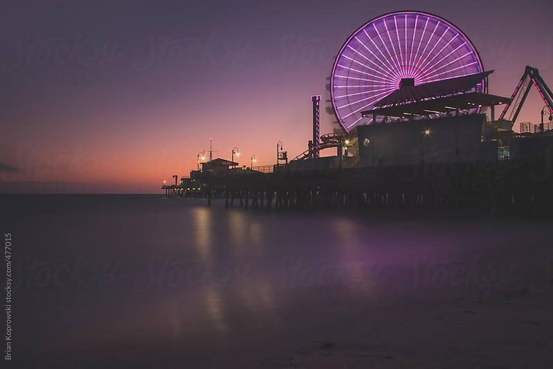 Santa Monica Pier by Brian Koprowski for Stocksy United