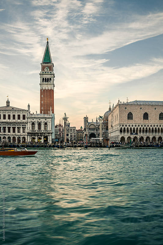 St. Mark's Square with the  Campanile di San Marco and the Doge' by Leander Nardin for Stocksy United