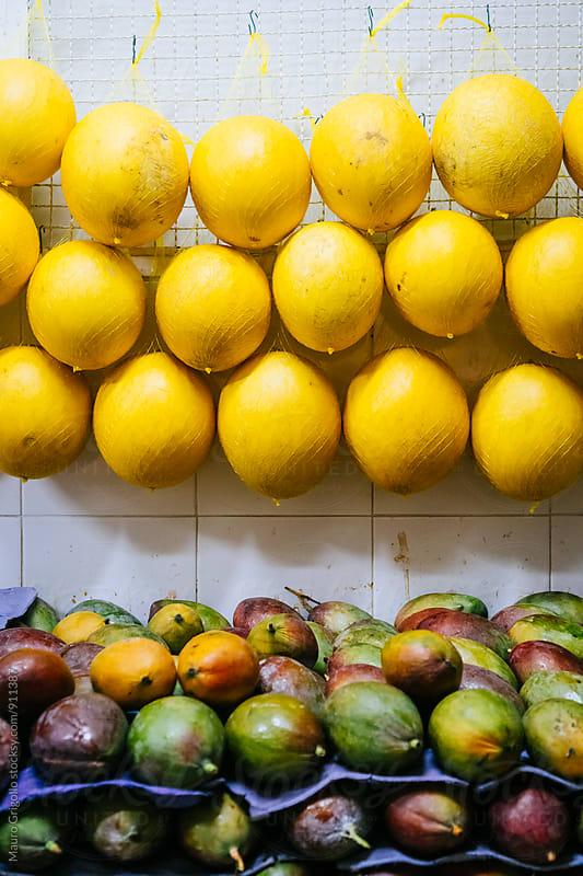 Tropical Fruits in a Market. Brazil. by Mauro Grigollo for Stocksy United