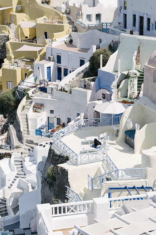 Cliff house in Santorini, Oia by MaaHoo Studio for Stocksy United