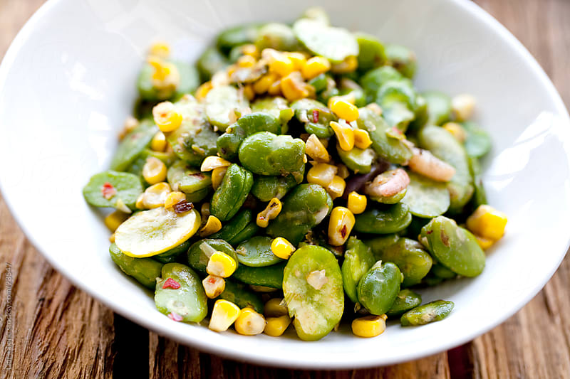 Fava beans salad by Lior + Lone for Stocksy United