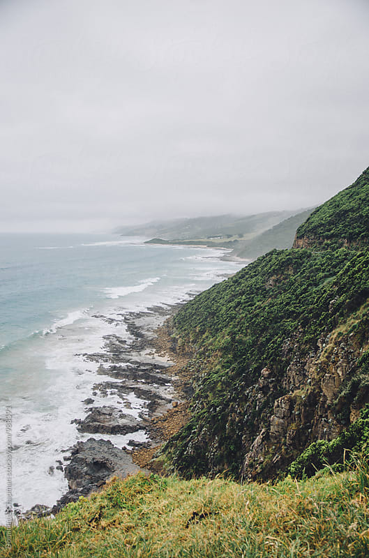 Landscape of The Great Ocean road by Dominique Chapman for Stocksy United