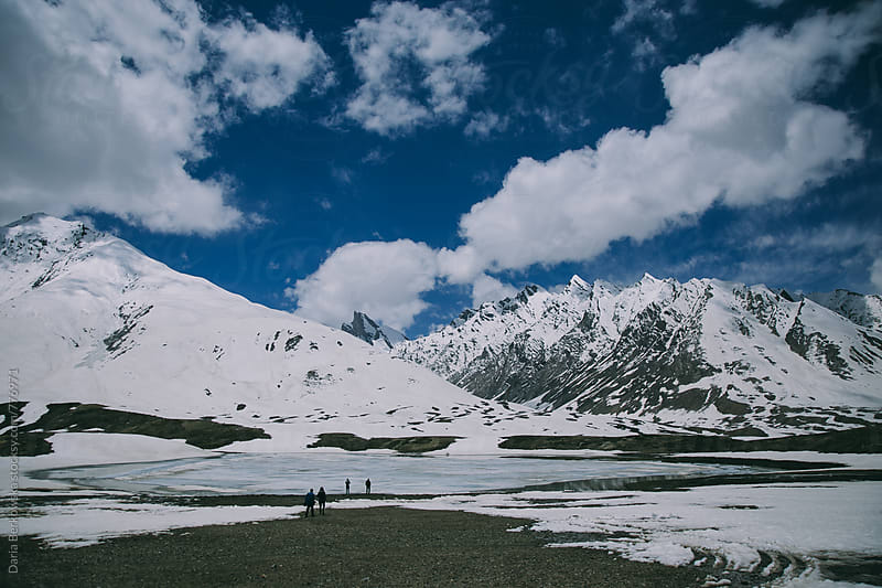 Exploring snow mountains in India by Daria Berkowska for Stocksy United