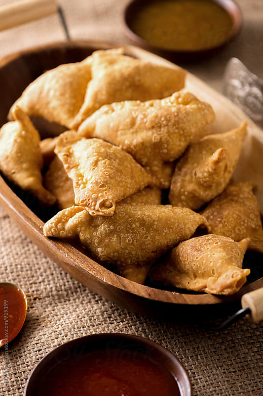 Indian Vegetable Samosas by Jeff Wasserman for Stocksy United