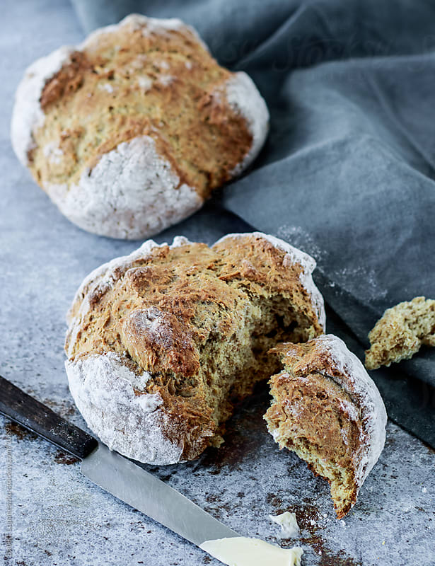 Soda bread by Viktorné Lupaneszku for Stocksy United