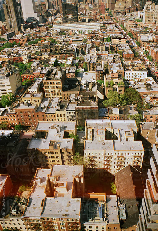 A film photo of elevated view of  Manhattan, New York City by Anna Malgina for Stocksy United