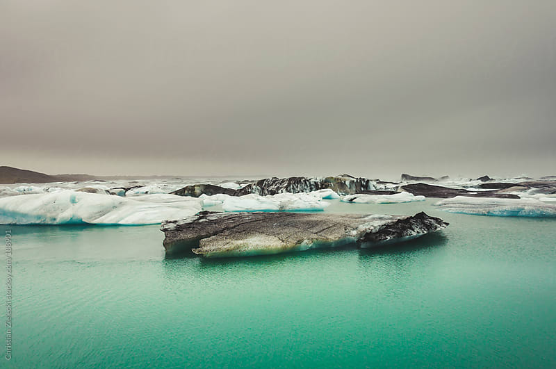 Glacial lake on Iceland by Christian Zielecki for Stocksy United