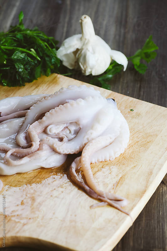 Octopus ready to be cooked by Giada Canu for Stocksy United