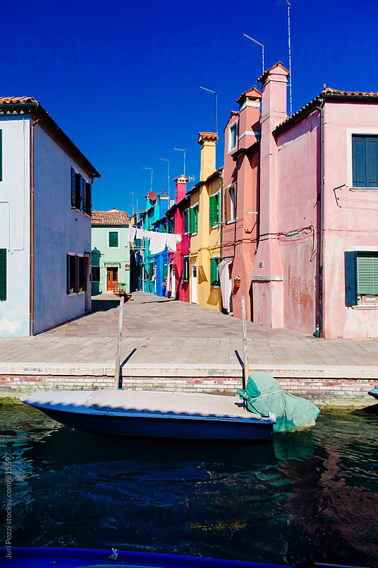 Burano canal  by Juri Pozzi for Stocksy United