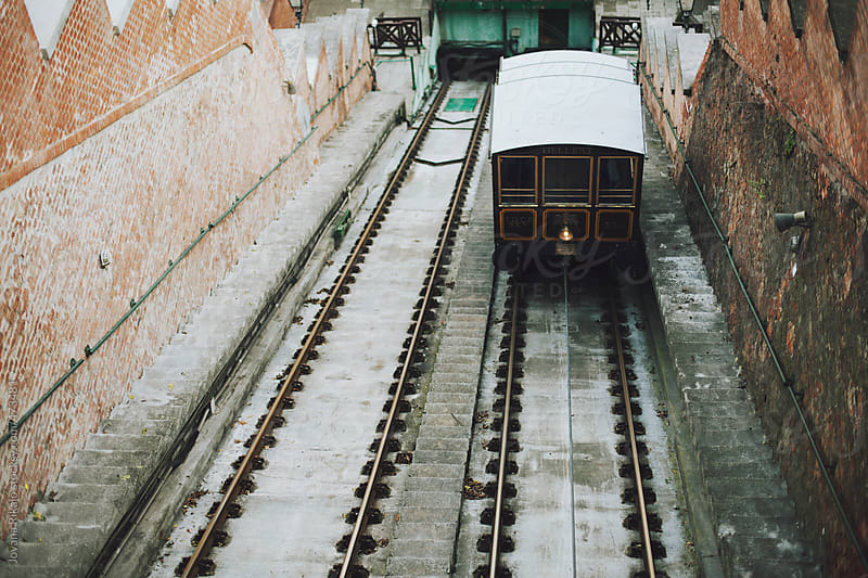Old Budapest funicular by Jovana Rikalo for Stocksy United
