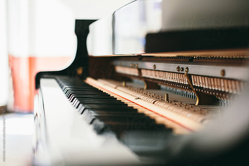 Keyboard and mechanics of a piano by michela ravasio for Stocksy United