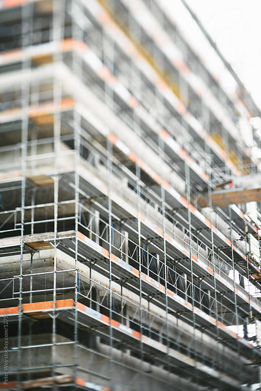 Tilt shift construction site by Peter Wey for Stocksy United