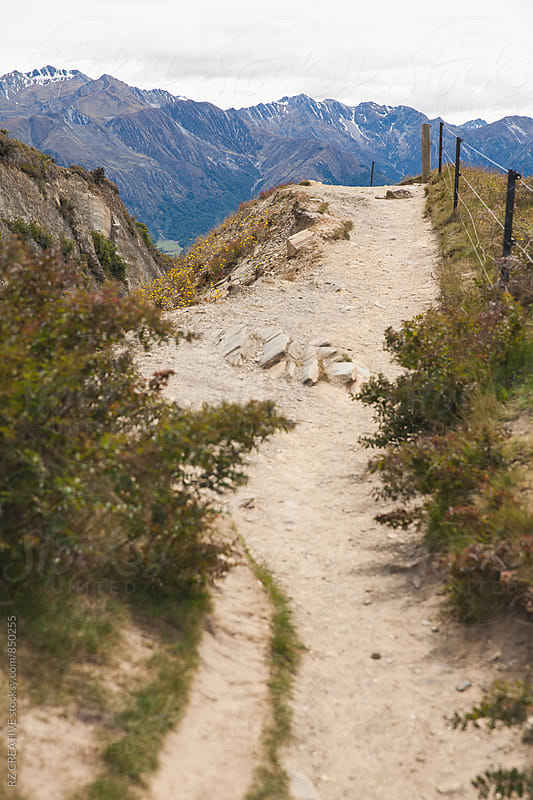 Trail near Lake Hawea in New Zealand's south island in spring. by RZ CREATIVE for Stocksy United