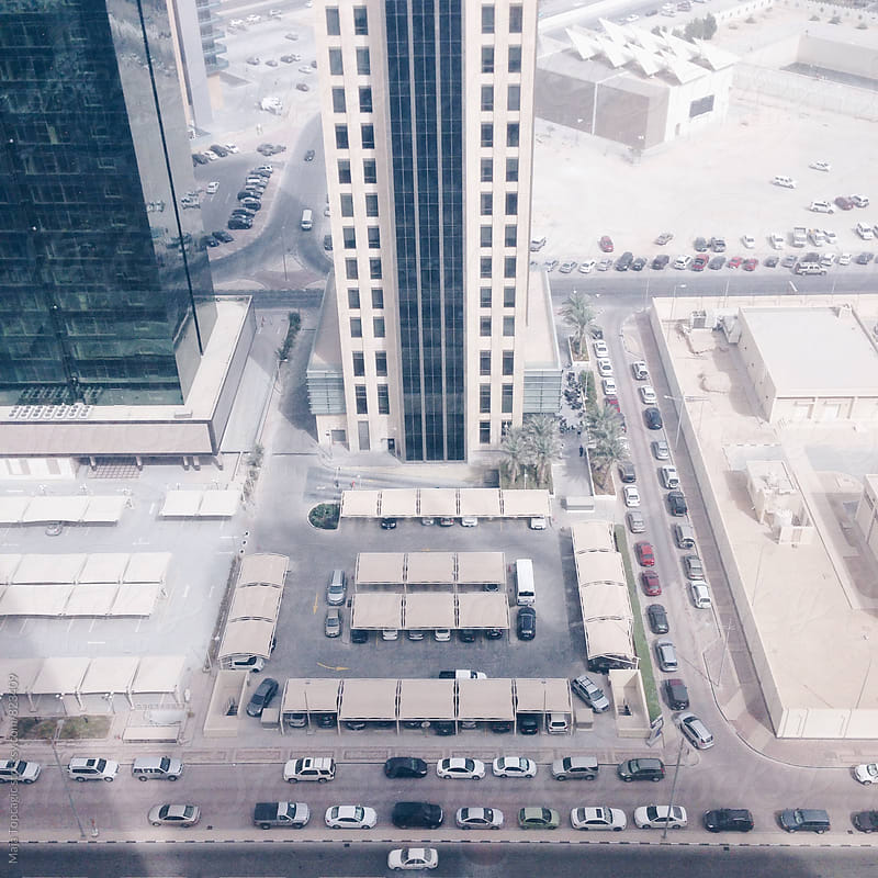 High skyscrapers in Qatar by Maja Topcagic for Stocksy United