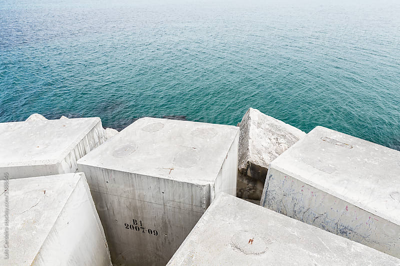 Harbor breakwater by Luis Cerdeira for Stocksy United