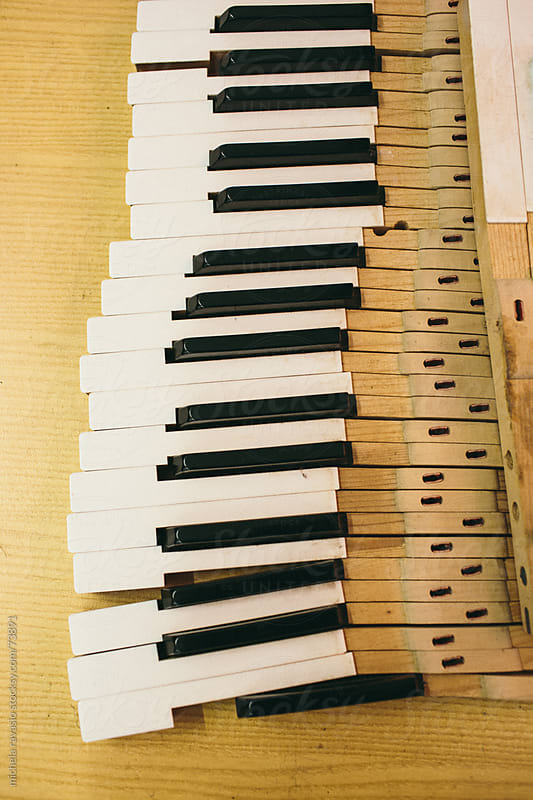 Keys of a piano by michela ravasio for Stocksy United