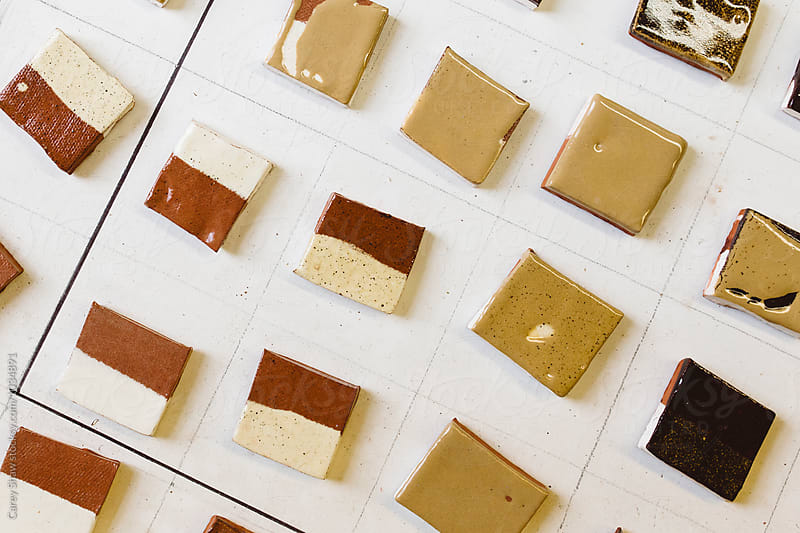 Clay and glaze test samples by Carey Shaw for Stocksy United