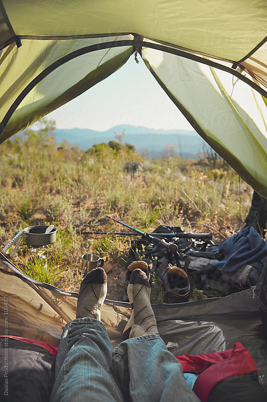 tent point of view by Daxiao Productions for Stocksy United