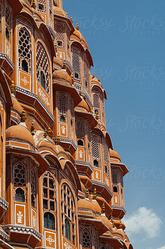 Jaipur Wind Palace by Rowena Naylor for Stocksy United