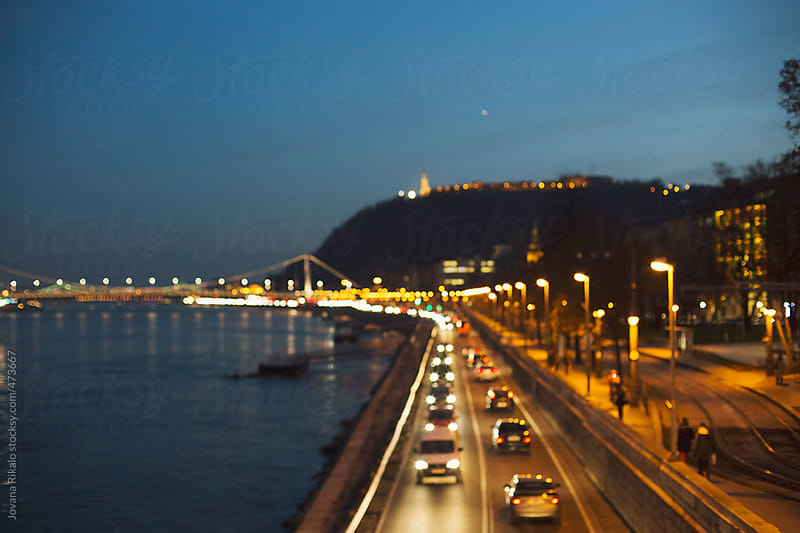 Road at night by Jovana Rikalo for Stocksy United