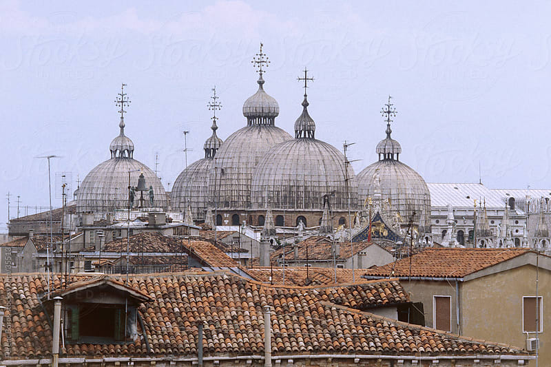Cupole di San Marco and surrounding roof-tops by Ferenc Boros for Stocksy United