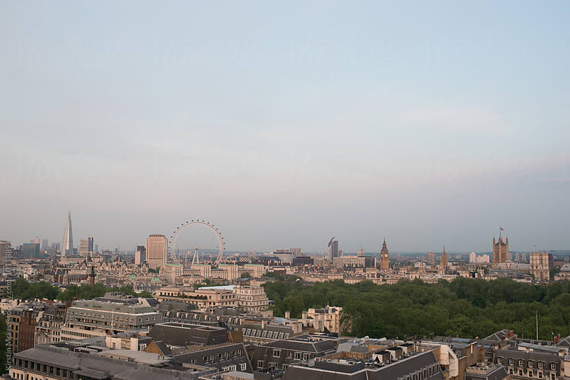 Skyline of London looking east across the city by Kirstin Mckee for Stocksy United