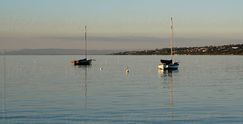 Two Moored Yachts on Port Phillip Bay, Mornington by Gary Radler Photography for Stocksy United
