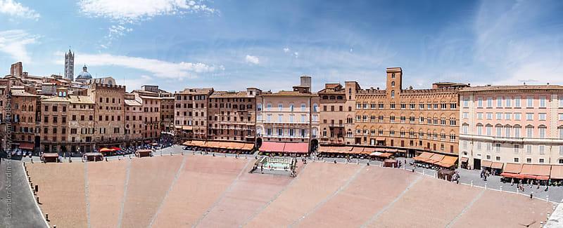 Piazza del Campo in Siena by Leander Nardin for Stocksy United