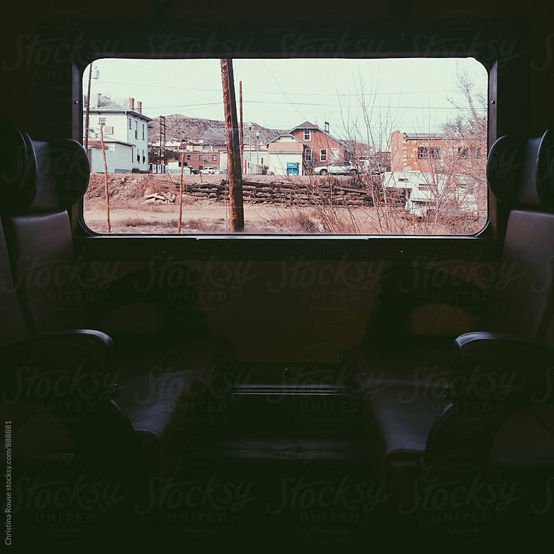 View from a train window by Christina Rouse for Stocksy United