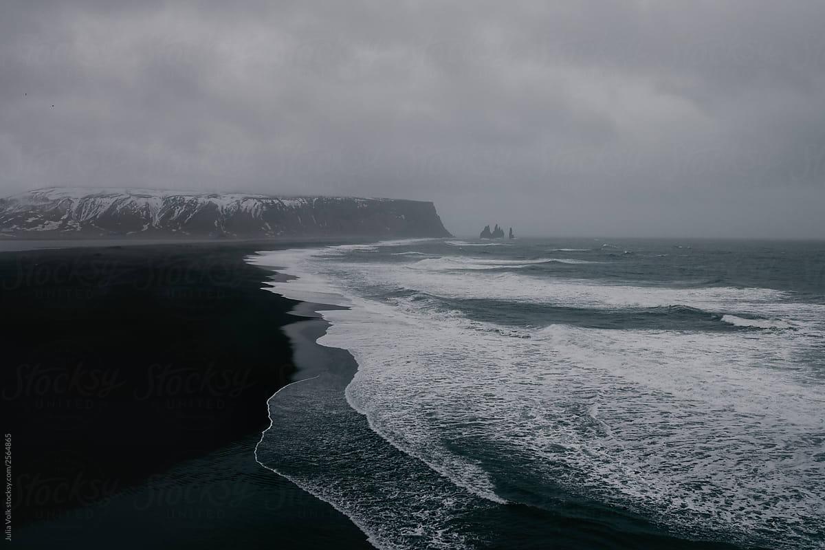 Black Sand Beach In Iceland By Julia Volk Stocksy United