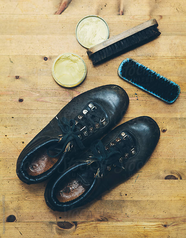 Boots and shoe cleaning accessories  by kkgas for Stocksy United
