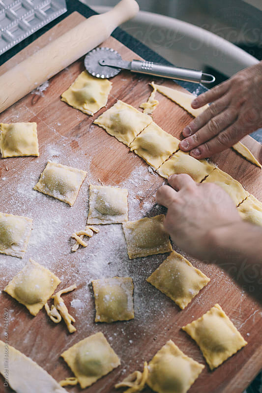 Making Italian Ravioli by Davide Illini for Stocksy United