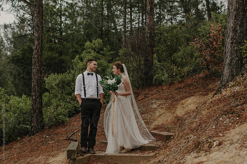 First Look of a Bride and Groom by Sidney Morgan for Stocksy United
