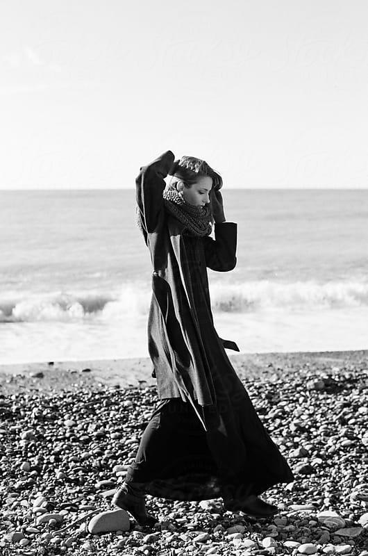 Woman at the seacoast  by Lyuba Burakova for Stocksy United