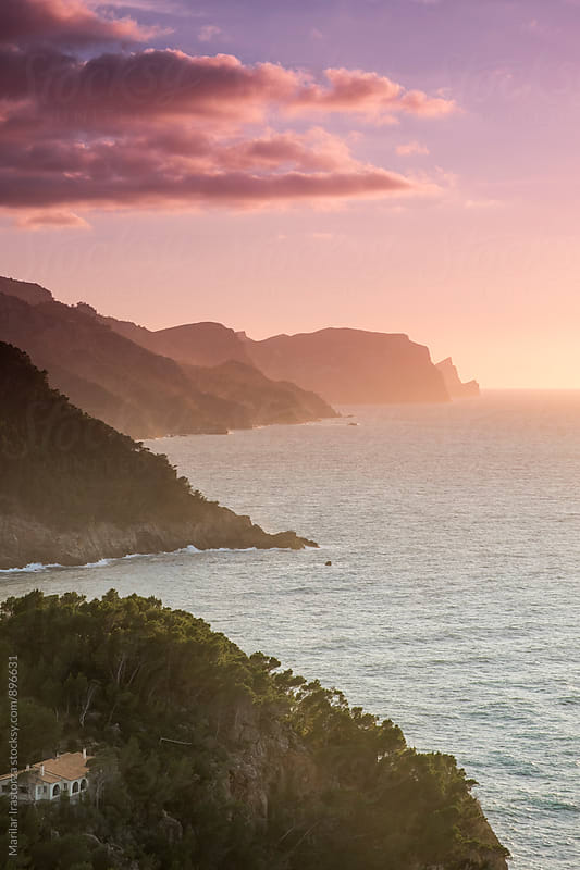 Mallorca coast at sundown by Marilar Irastorza for Stocksy United