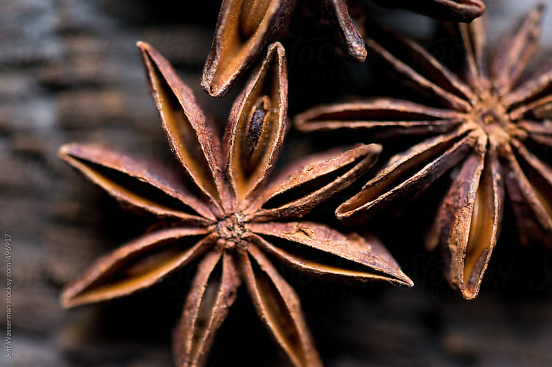 Star Anise On Rustic Wood Closeup by Studio Six for Stocksy United