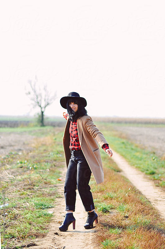 Woman with the hat by Jovana Vukotic for Stocksy United