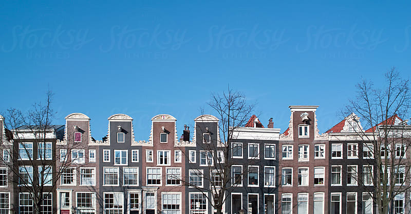 Beautiful houses in Amsterdam by Marcel for Stocksy United