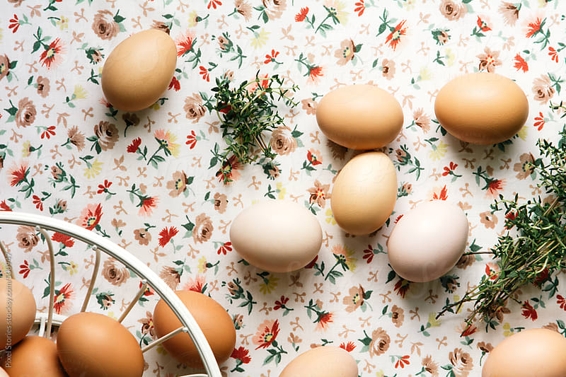Home-grown eggs and spices  by Pixel Stories for Stocksy United