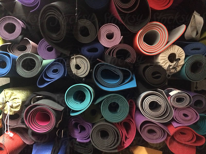 Colourful Yoga Mats by Diane Durongpisitkul for Stocksy United